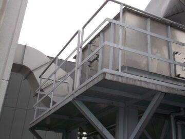 集塵機運転時異音・振動による排風機インペラ交換